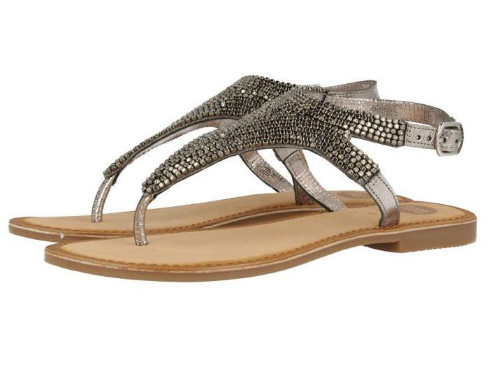 Gioseppo - Ilsama Flat Pewter Sandal | Buy Online