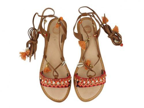 Gioseppo - Ioana Orange Flat Sandal | Buy Onlinbe