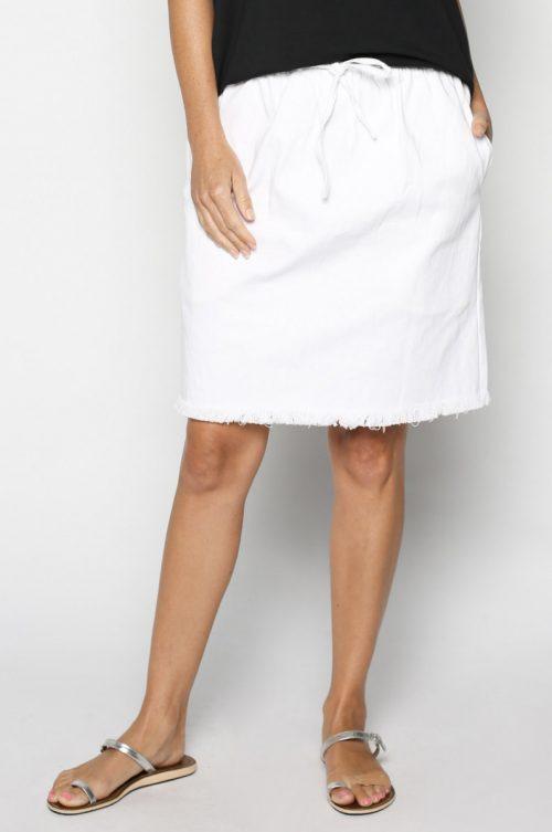 White Demin Skirt