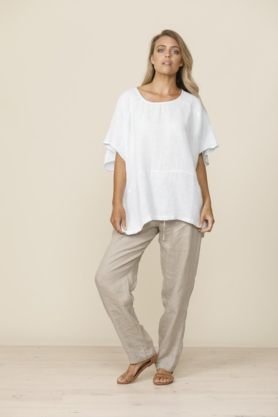Shanty Bari Top Mint - Linen