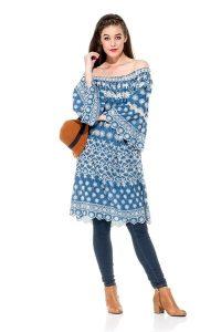 Naudic Riverview Dress Chevron Schiffli