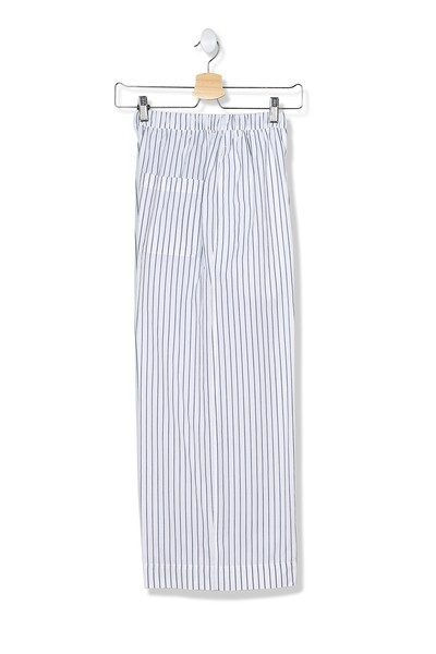 Berlin Blue and White Stripped Cotton Pant