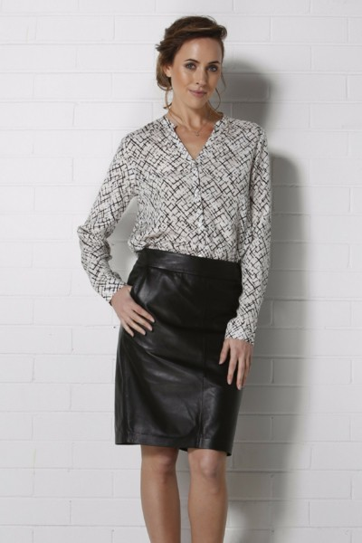 Joyce Leather Skirt