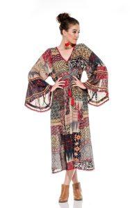 Naudic St. Paul Maxi Dress Blackburn Print
