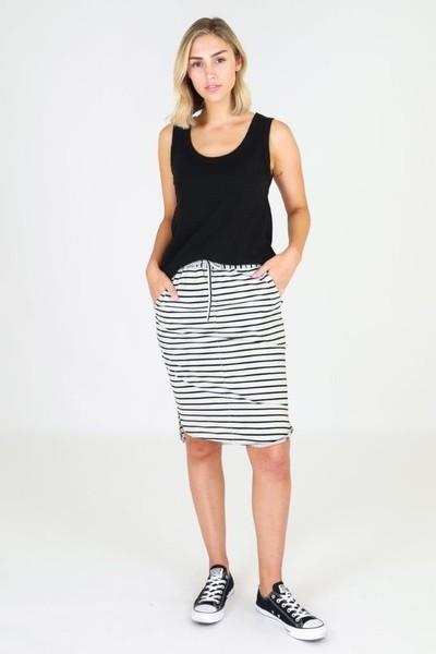 Buy 3rd Story Olivia Skirt Grey Stripes Online