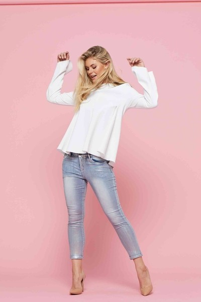 New London Jeans Silver Foil Moray