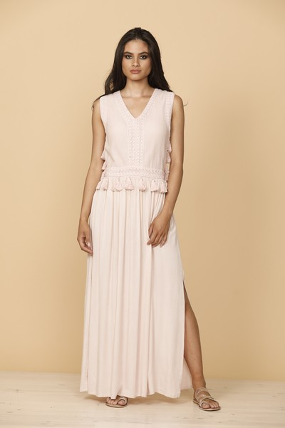 Talisman Levanto Dress Rose Smoke Maxi