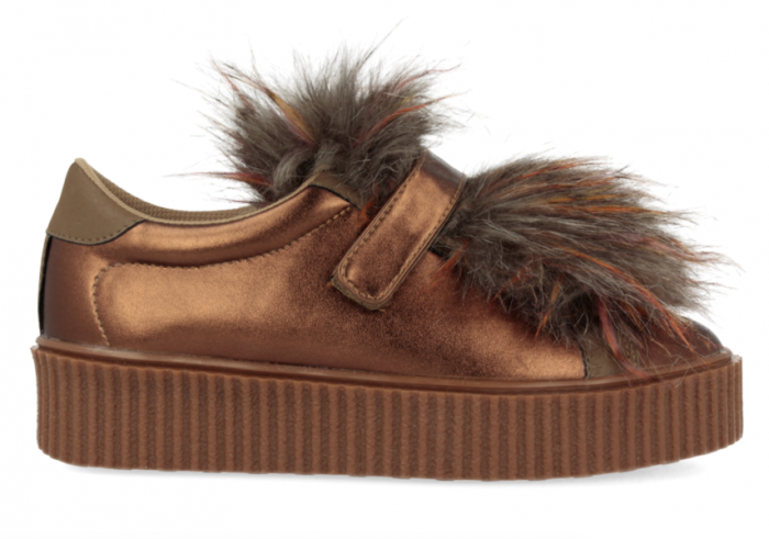 Gioseppo Sneakers copper removable furry tongue for 41140