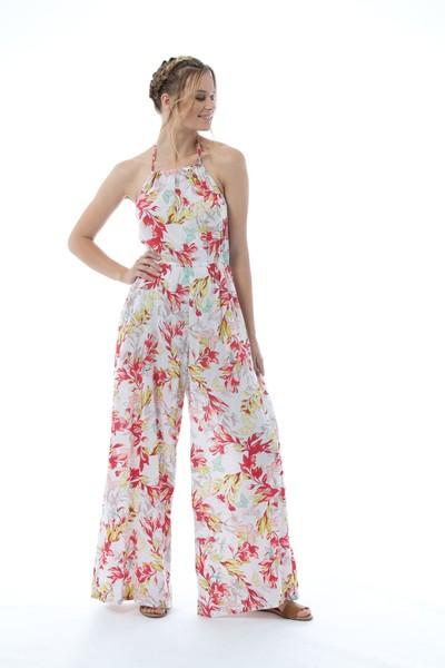 Kaja Elle Jumpsuit Floral and Navy