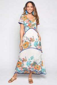 Adrift Indie Dress in Bouquet Plus Size Buy Online