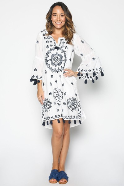 Adrift Charvi Dress in White Buy Online
