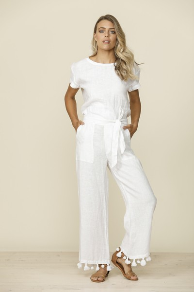 Shanty Claro Pants with tassel trim