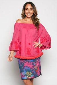Adrift Prisha Reversible Skirt in Wild Blue Green Buy Online