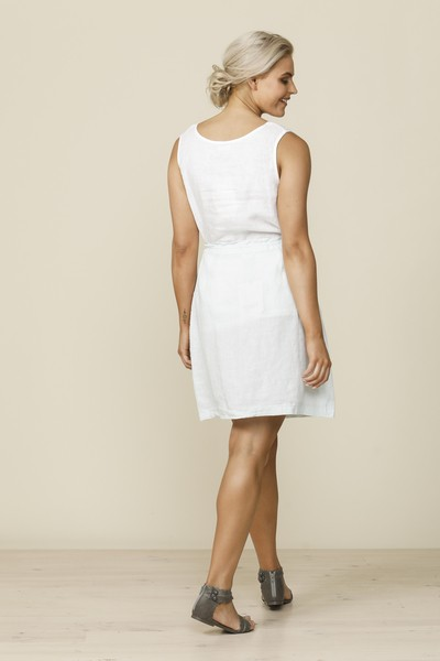 Shanty Naples Midi Skirt White