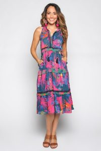 Adrift Rita Dress in Wild Blue Buy On Line - Plus Size Available