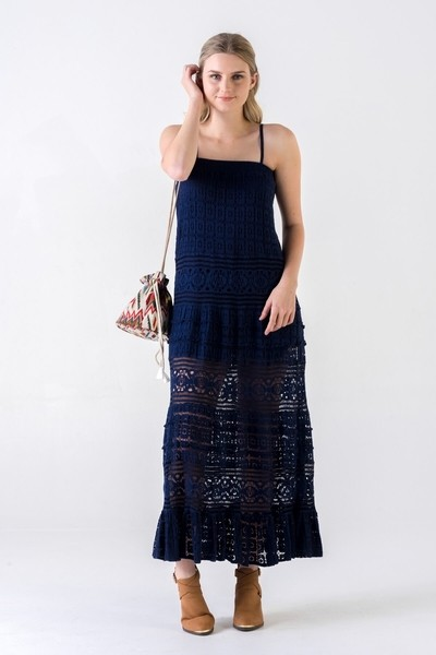 Cotton Lace Diva Maxi Dress