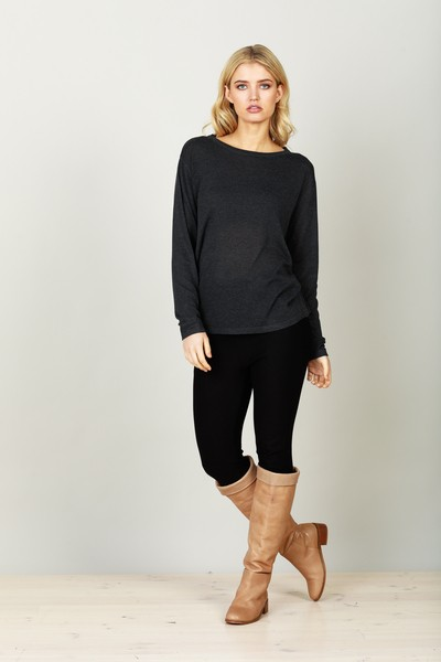 Buy Brave and True Petra Knit Charcoal Online