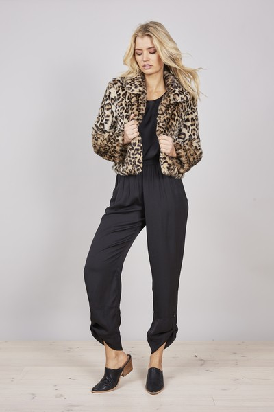 Buy Brave and True Sasha Jacket in Leopard Online