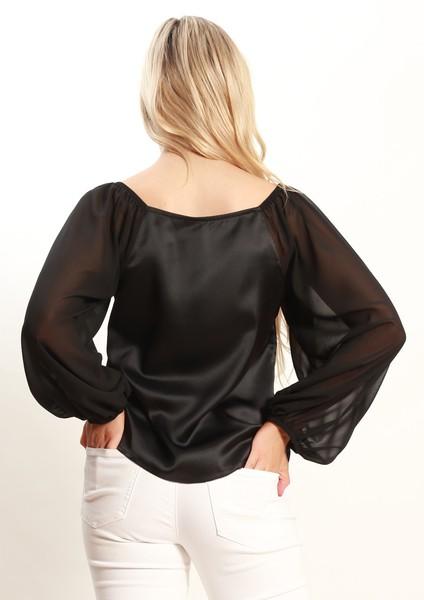 Buy Spicy Sugar XW20191SS Black Long Sleeve Top Online