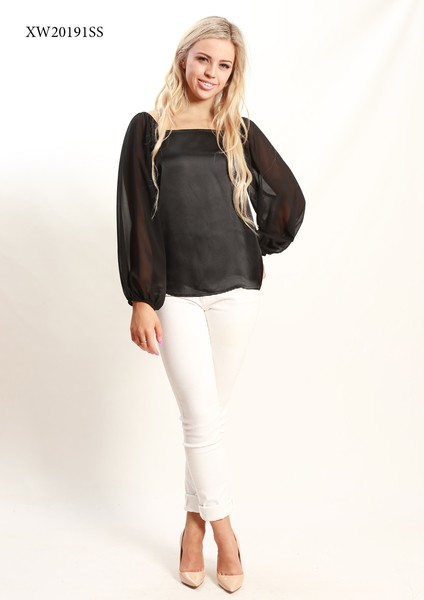 Buy Spicy Sugar XW20191SS Black Long Sleeve Top On Line