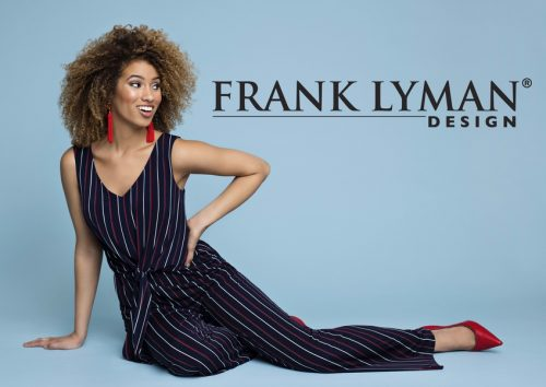 Frank Lyman Designs 186428 Stripe Knit Jumpsuit