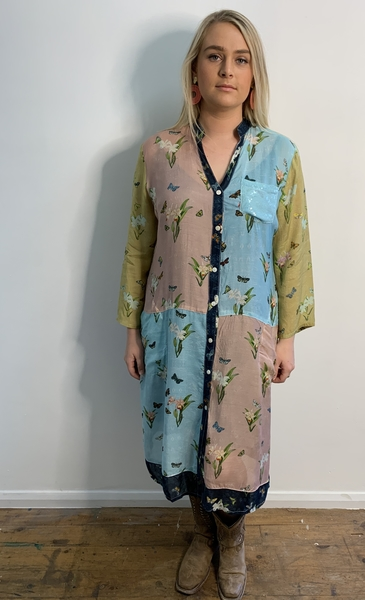 Ruby Yaya Orchid Patch Shirt Dress