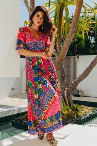 Lula Soul Tango Maxi Dress in Melon Shop Now Online Stockist
