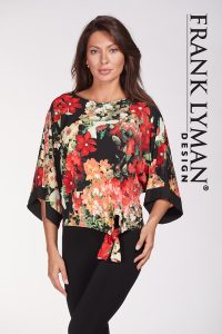 Frank Lyman Floral Knit Top 186397