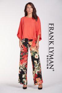 Frank Lyman Floral Knit Pant 186396