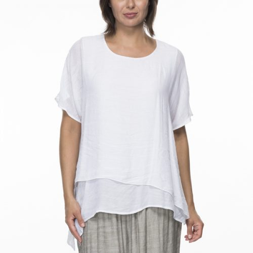 Threadz Clarity Layer Crinkle Top