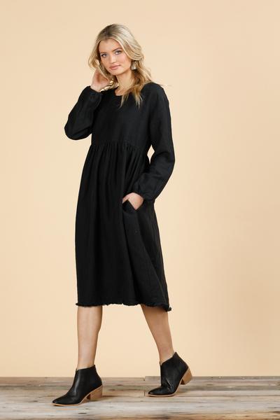 The Shanty Corporation Nadia Dress in Black